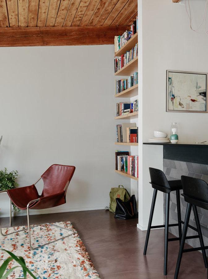 salón con mobiliario integado