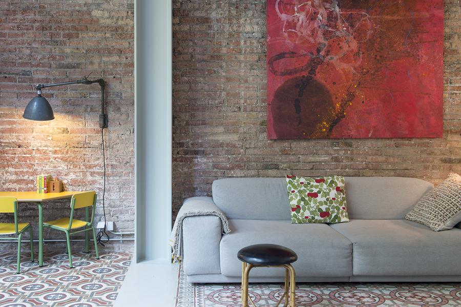 Ladrillo Loft foto salón con muro de ladrillo tipo loft de lola mulledy 1442273