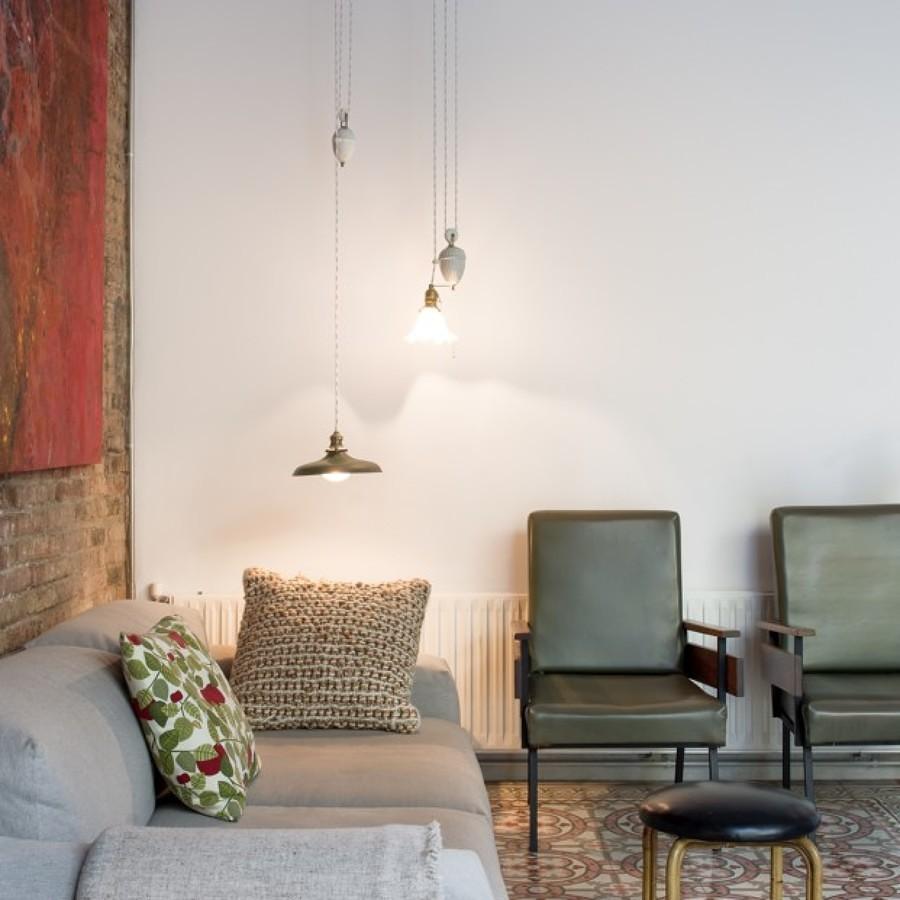 5 apartamentos donde triunfa el ladrillo visto ideas - Muros de ladrillo visto ...