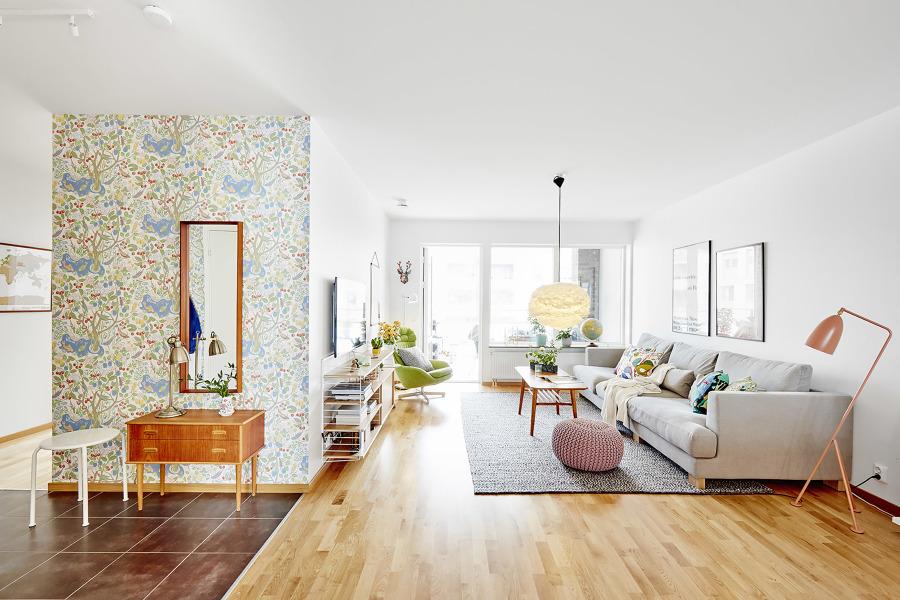 C mo preparar tu casa para hacer cocooning ideas decoradores for Papel pared salon