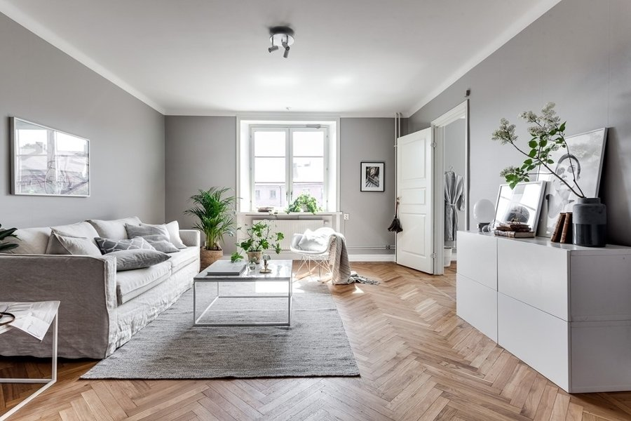 Foto sal n con paredes en gris de miv interiores 1277720 habitissimo - Miv interiores ...
