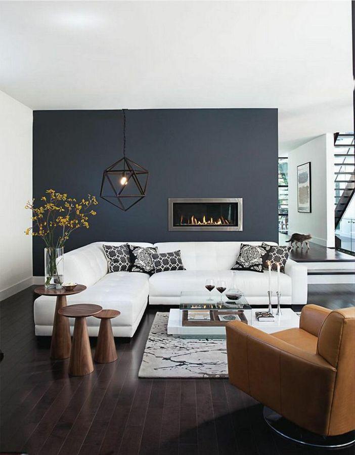 Salón con sofá y chaise longue