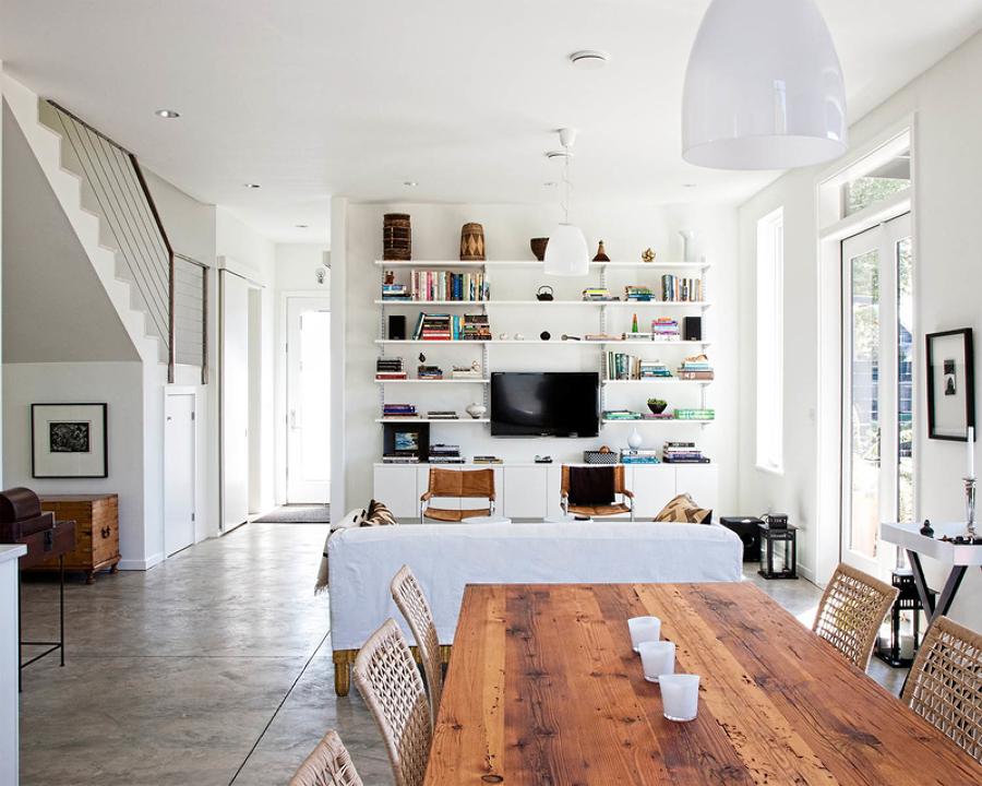 7 cosas que todo sal n ideal necesita ideas decoradores for Estanterias metalicas decoracion