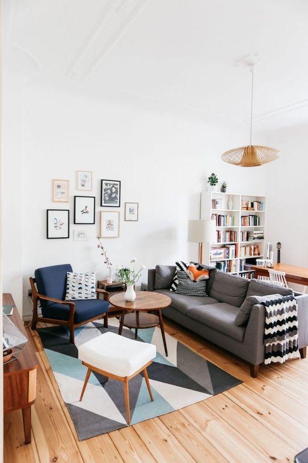 Salón de estilo escandinavo