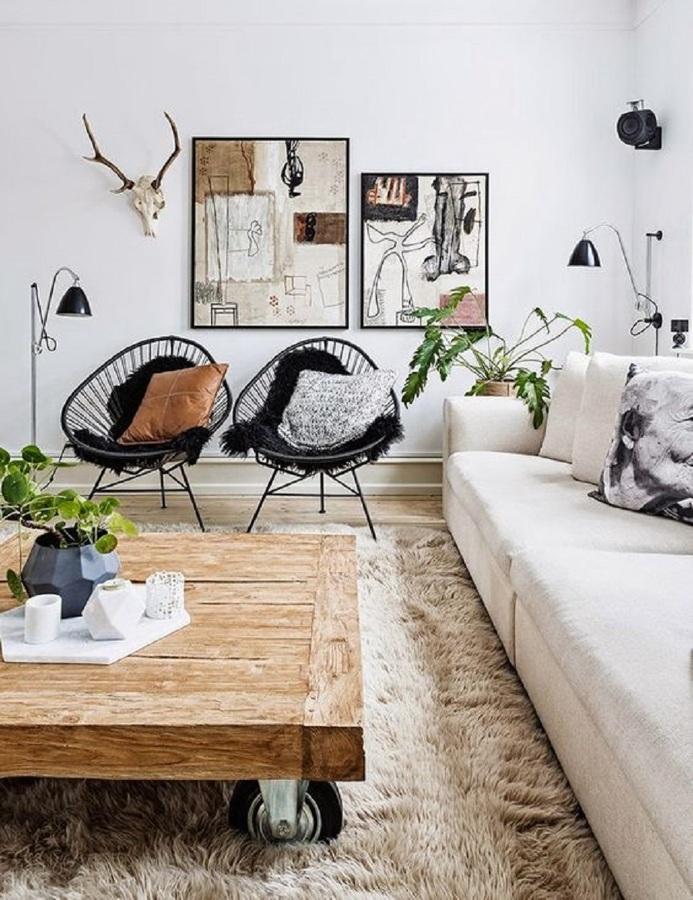 Salón de estilo nórdico