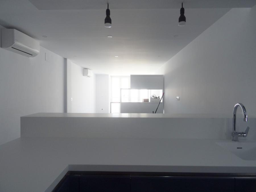 Salón desde barra cocina