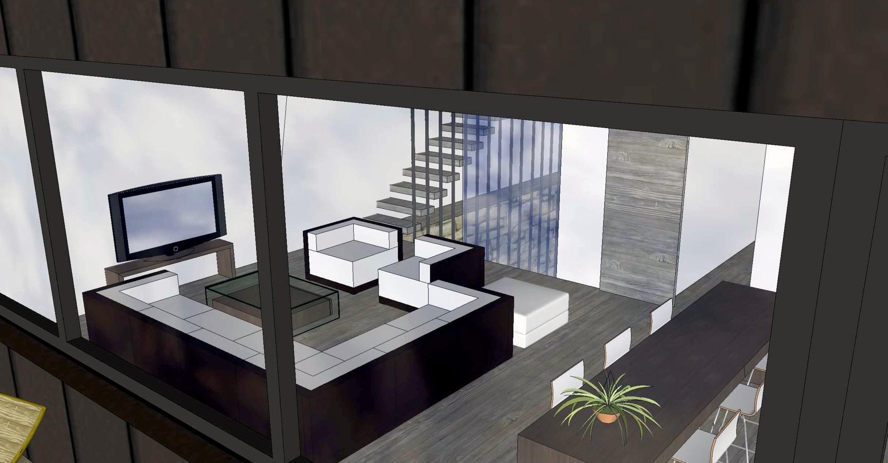 Salón desde terraza