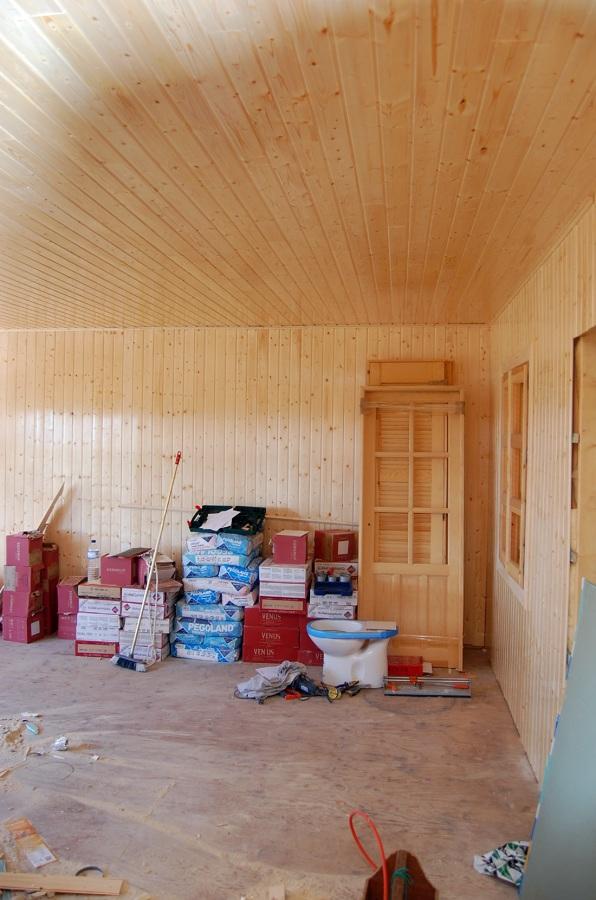 salón durante la obra