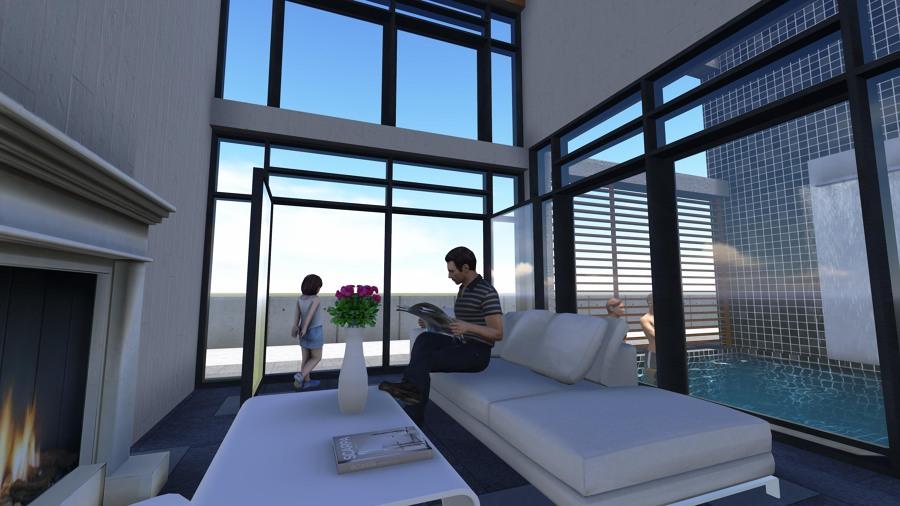 Vivienda unifamiliar aislada ideas arquitectos - Salon doble altura ...