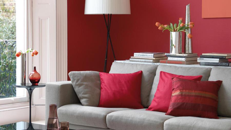 salón en rojo