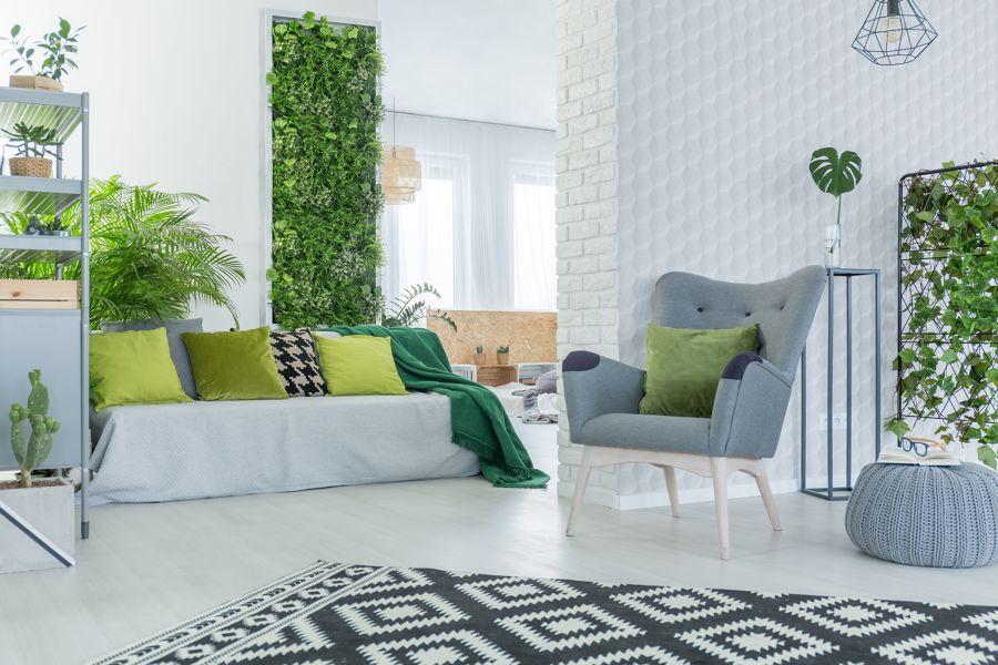 Salón en verdes