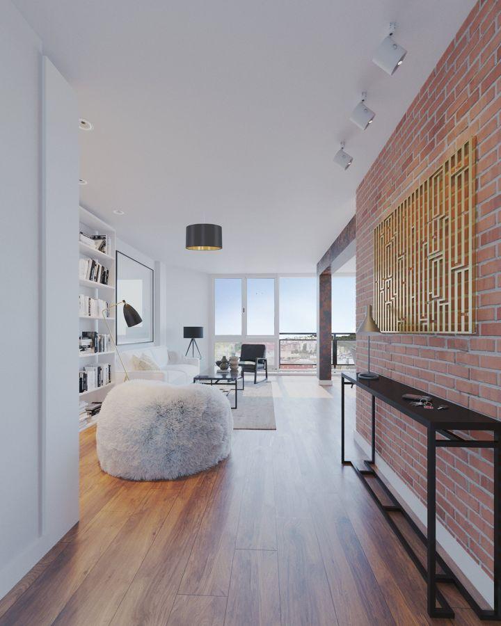 Salón estilo moderno y funcional