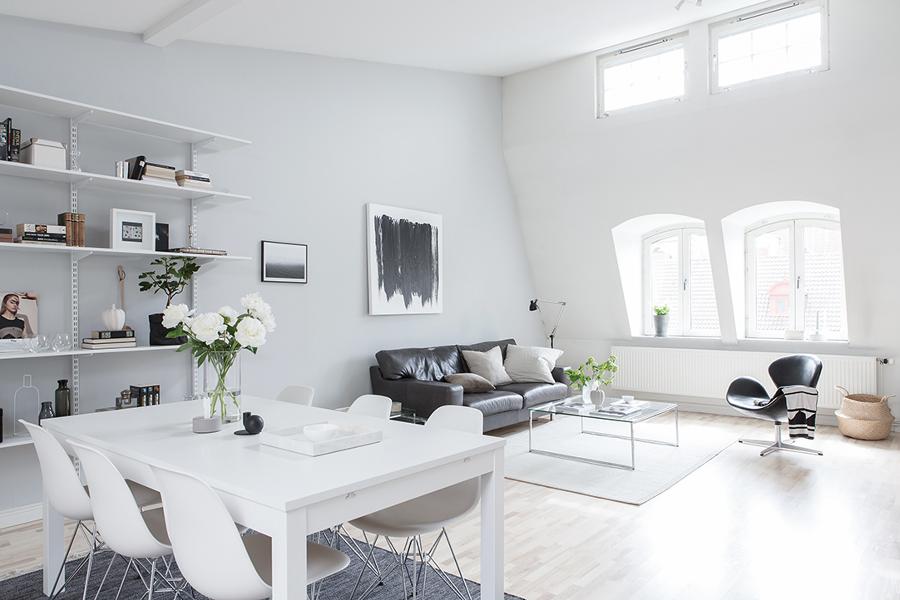 salón estilo nórdico
