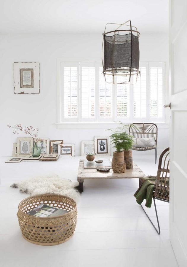 Salón estilo orgánico