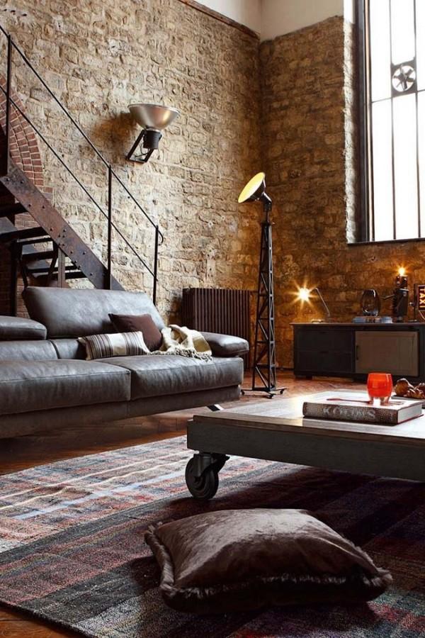 Salón loft industrial