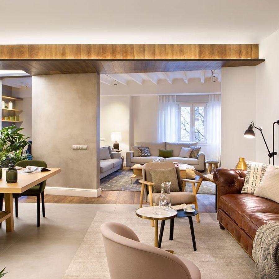 Salón moderno con sofá Chester