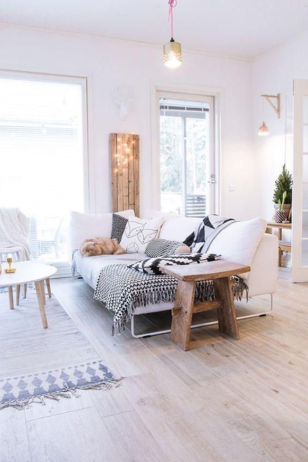 Salón pavimento madera