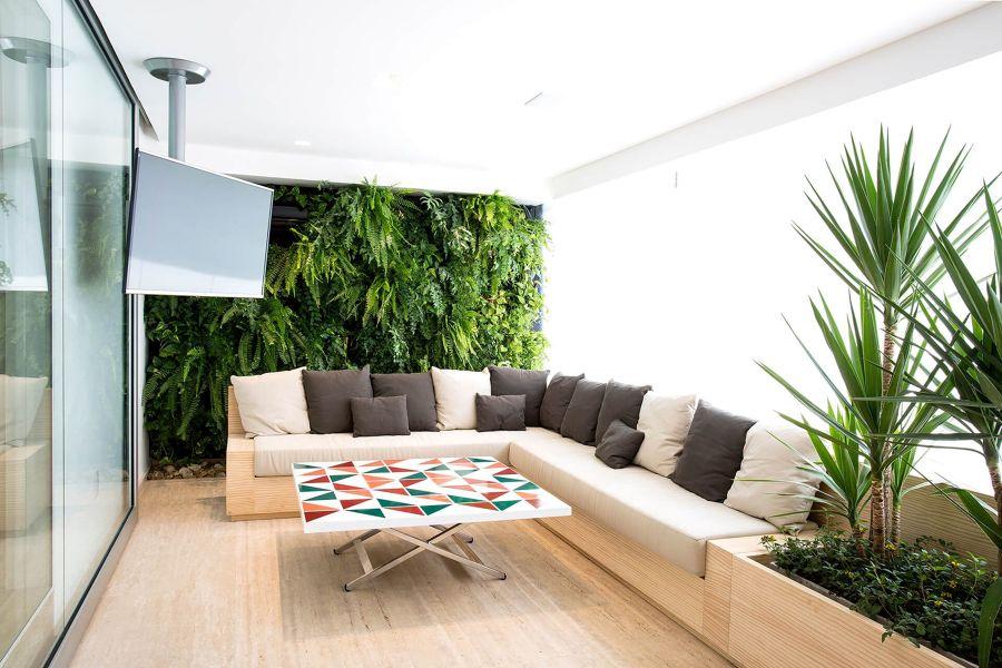 salón plantas