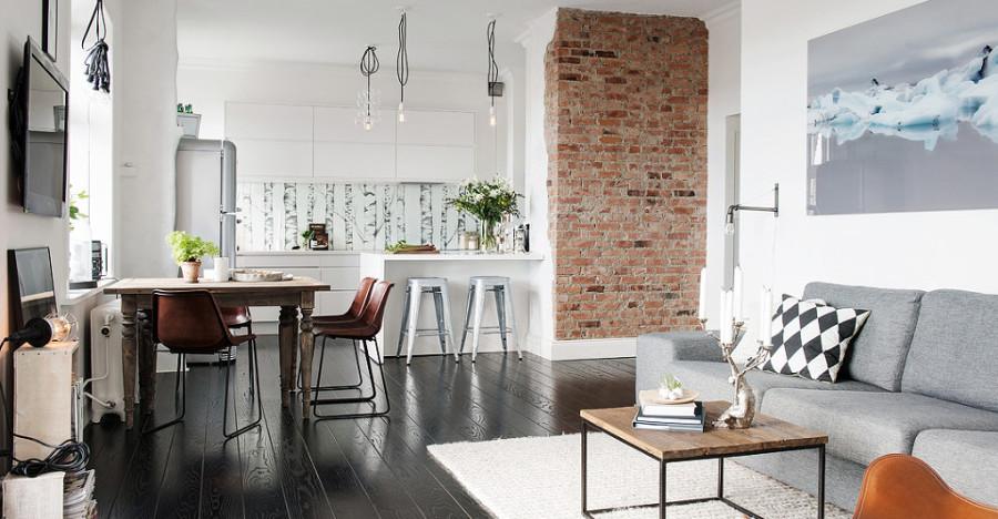 Foto sal n comedor y cocina de boho chic 913459 for Cocina y salon integrados