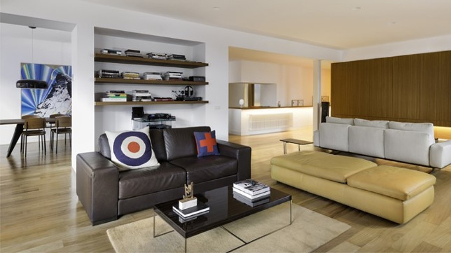 Salón sofá de piel