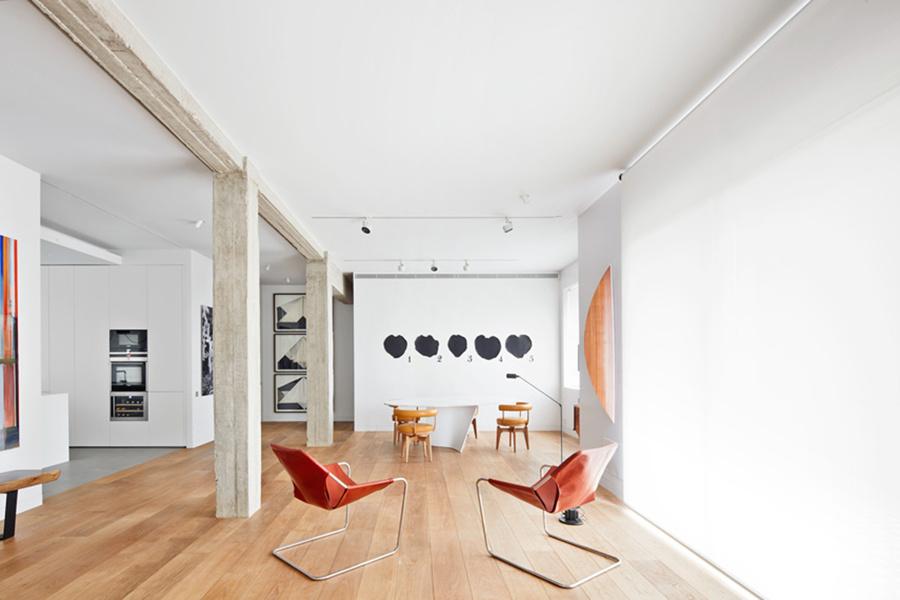 Una casa que es tambi n galer a de arte ideas arquitectos for Vigas de decoracion
