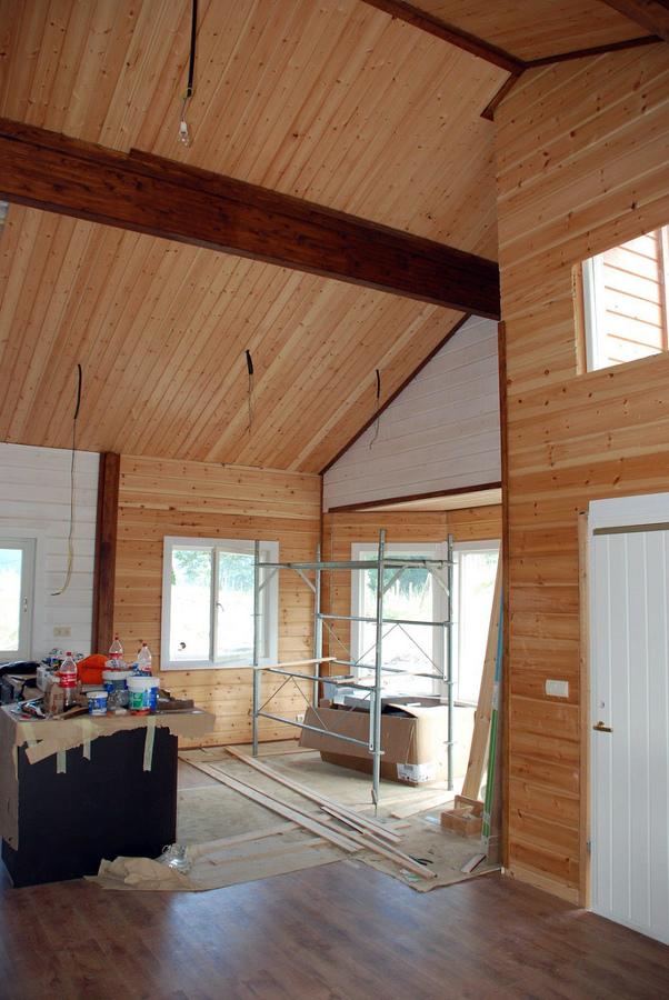 Salón - vivienda prefabricada