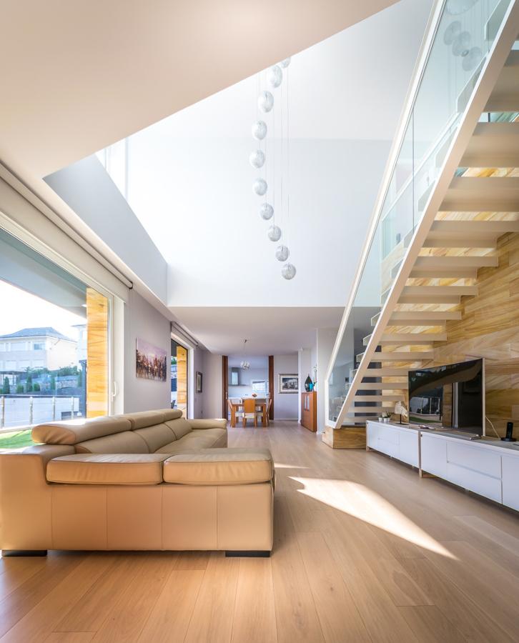 Salón y doble espacio