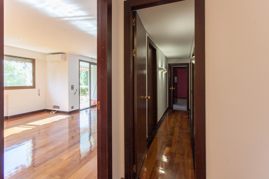 Salón y pasillo