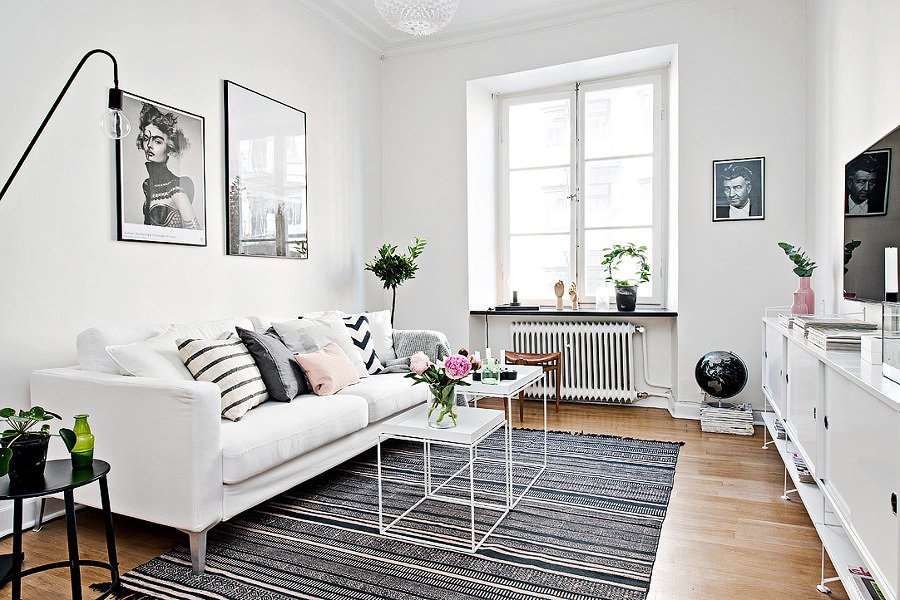 Salon comedor rectangular pequeo stunning imagen for Living comedor pequeno rectangular
