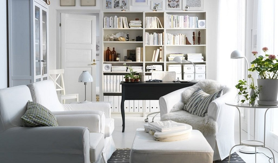 salonn blanco y gris