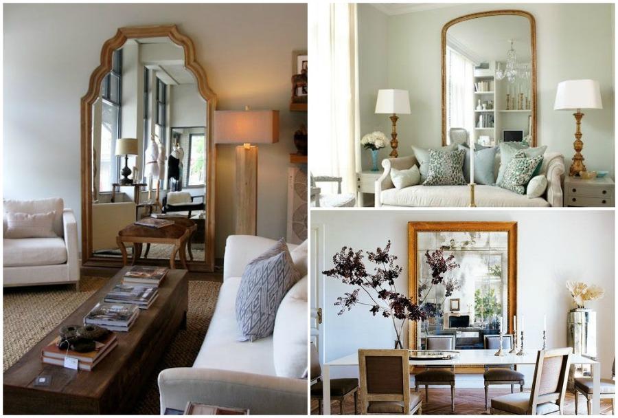 8 soluciones xxl para salones peque os ideas decoradores - Espejos para salones ...