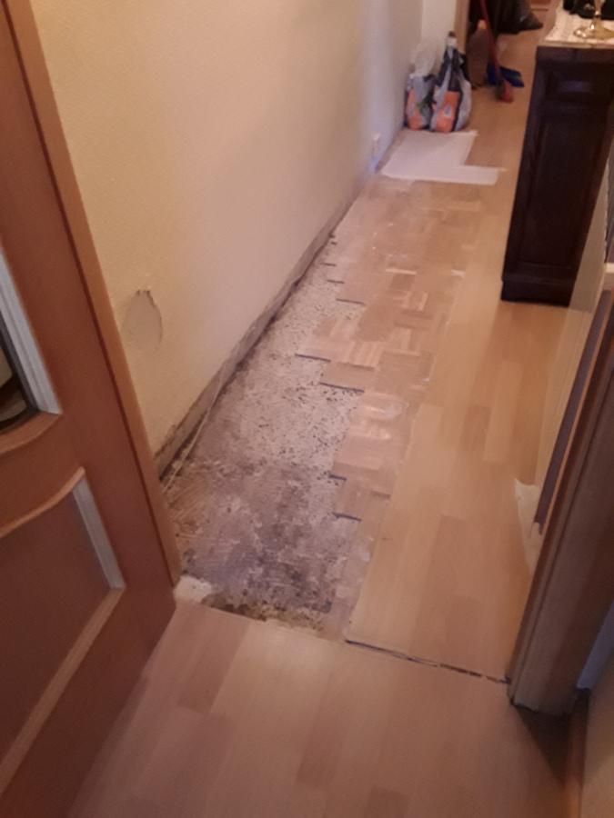 Saneado de parquet antiguo