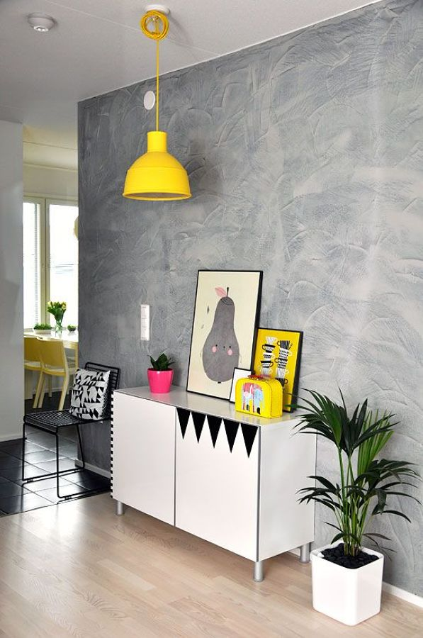 pared estucado gris