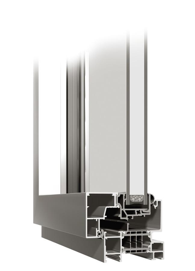 Sección ventana de aluminio