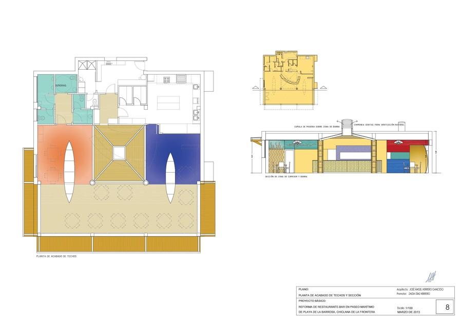 Sección y techos CH1