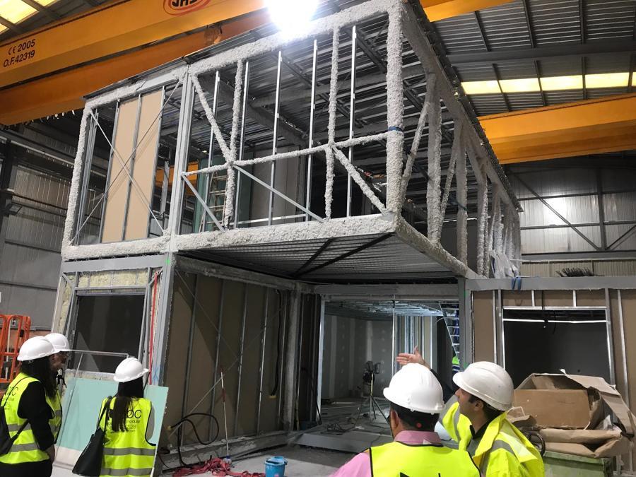 Segunda fase de la construcción modular