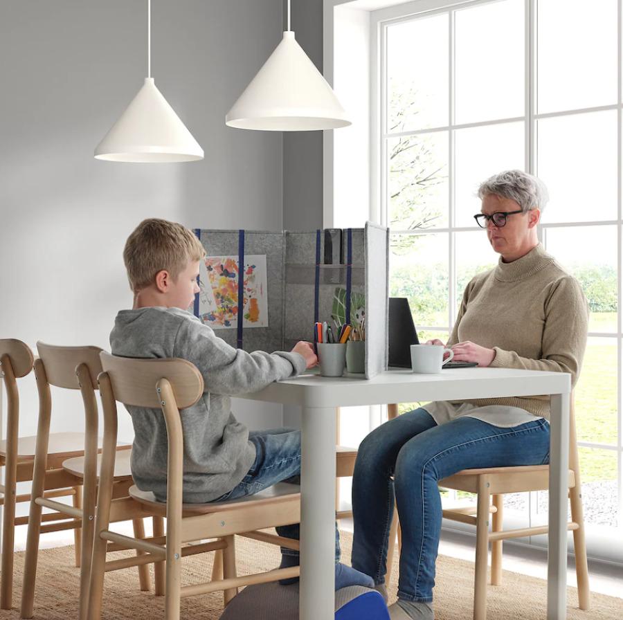 Separador de escritorio de IKEA