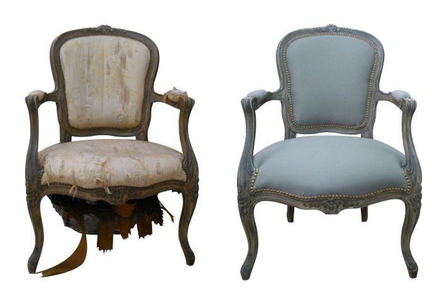 Foto silla antes y despues de tapizados la estrella - Presupuesto tapizar sillas ...