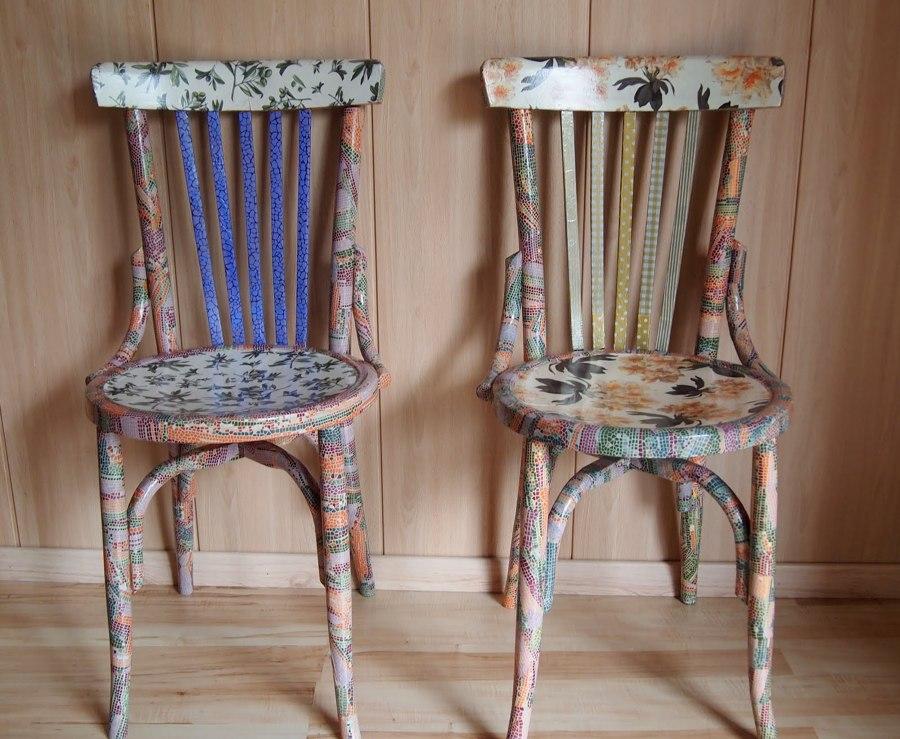Descubre lo que puedes hacer con la t cnica decoupage ideas decoradores - Pintar sillas de madera ...