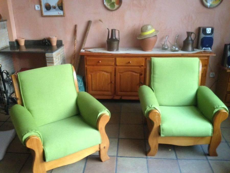 Fundas de dos sillones y un sof ideas tapiceros - Sillones con fundas ...