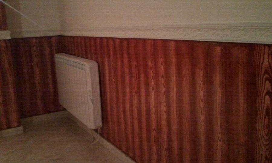 Foto zocalo efeto madera en color cenefa de caucho de - Cenefas para pasillos ...
