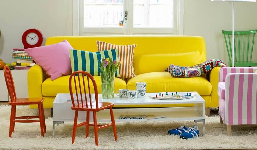 Foto sof amarillo ikea de ma jos jim nez 770979 - Muebles de mimbre en ikea ...