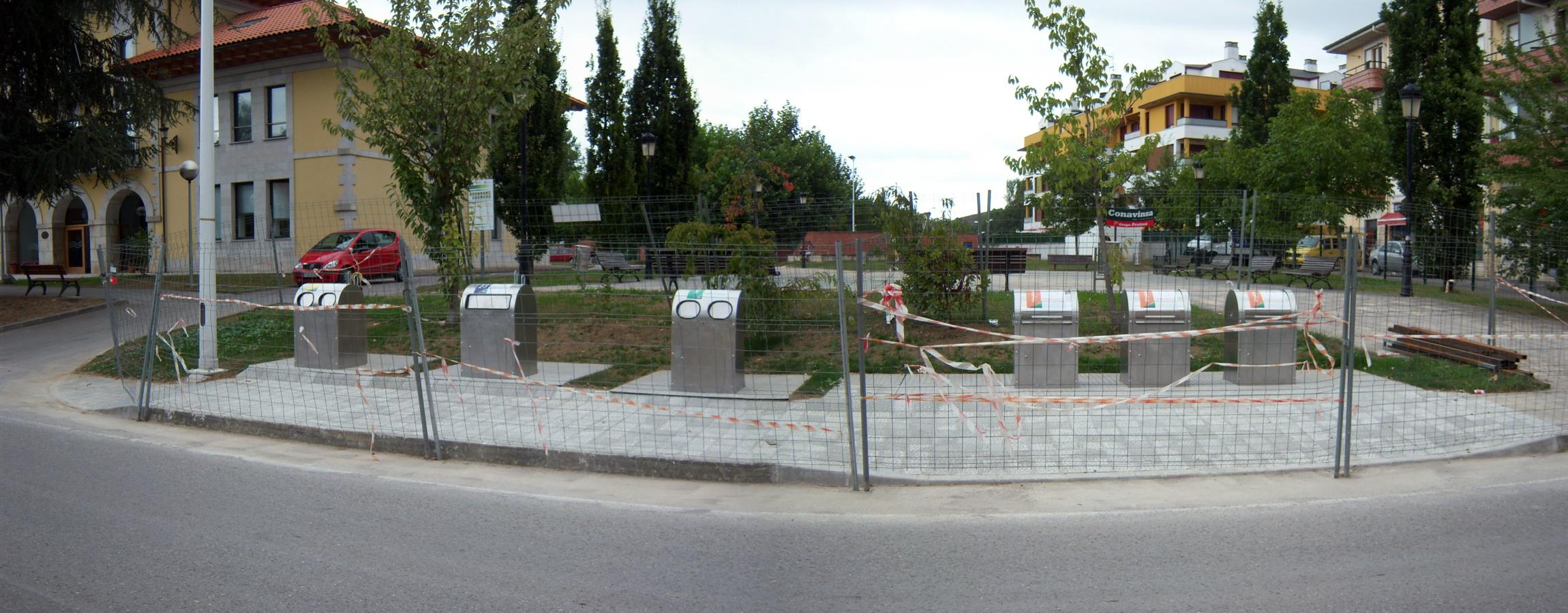Soterramiento de contenedores en Entrambasaguas, Cantabria (2)
