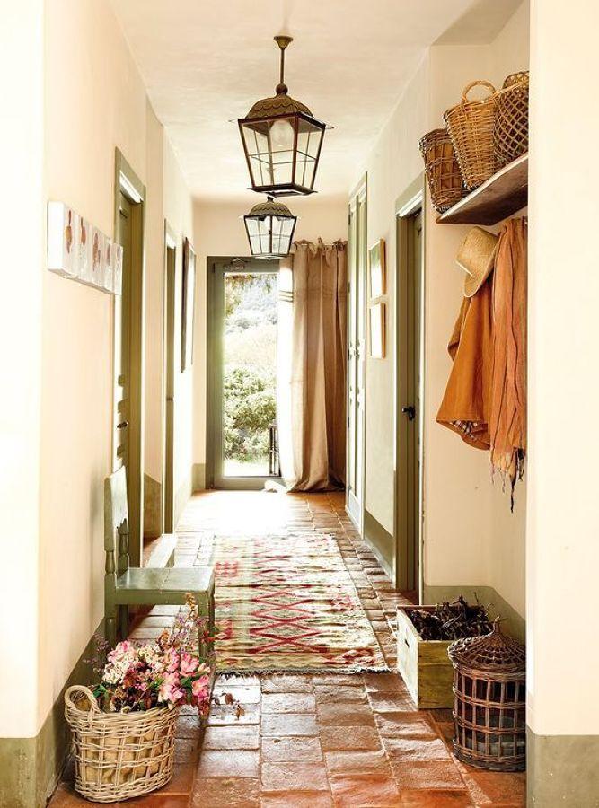 suelo barro cocido en casa rústica