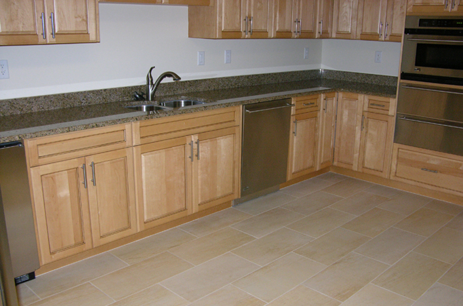 suelo cocina encimera granito - Encimeras De Cocina Aglomerado