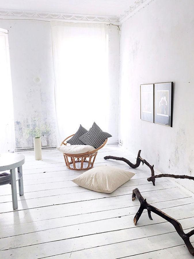 Suelo de madera blanco