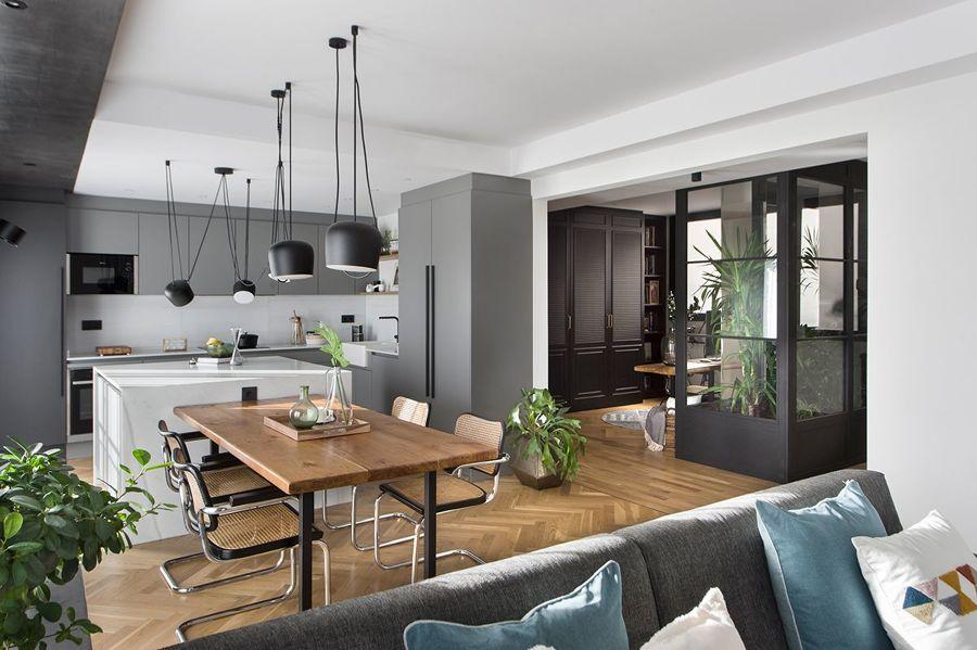 Suelo de parquet en cocina, pasillo y salón
