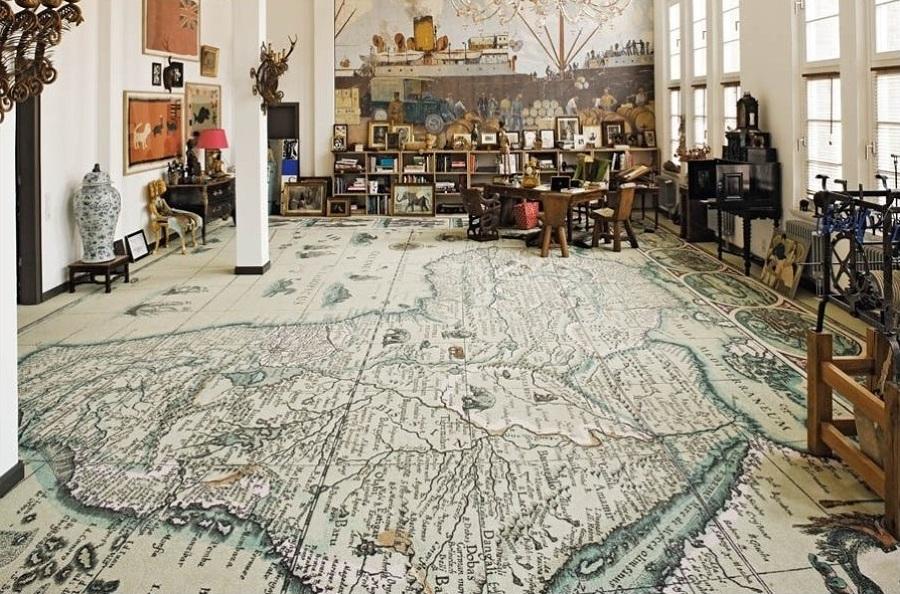 suelo hecho de mapas