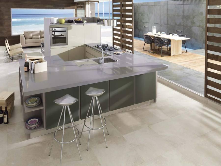 Pisa sobre seguro y elige el mejor suelo para tu cocina ideas pavimentos continuos - Suelos para cocinas modernas ...