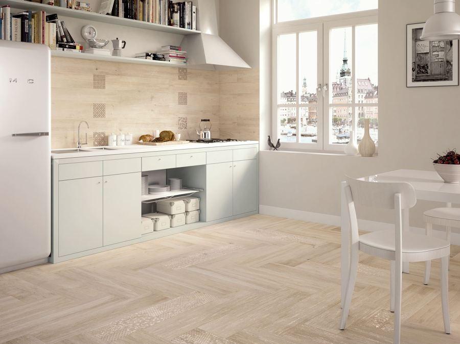 Foto suelo porcel nico en la cocina de miriam mart - Suelos de porcelanico ...